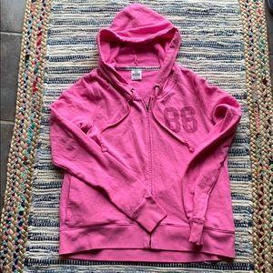 Pink Hot pink zipped hoodie